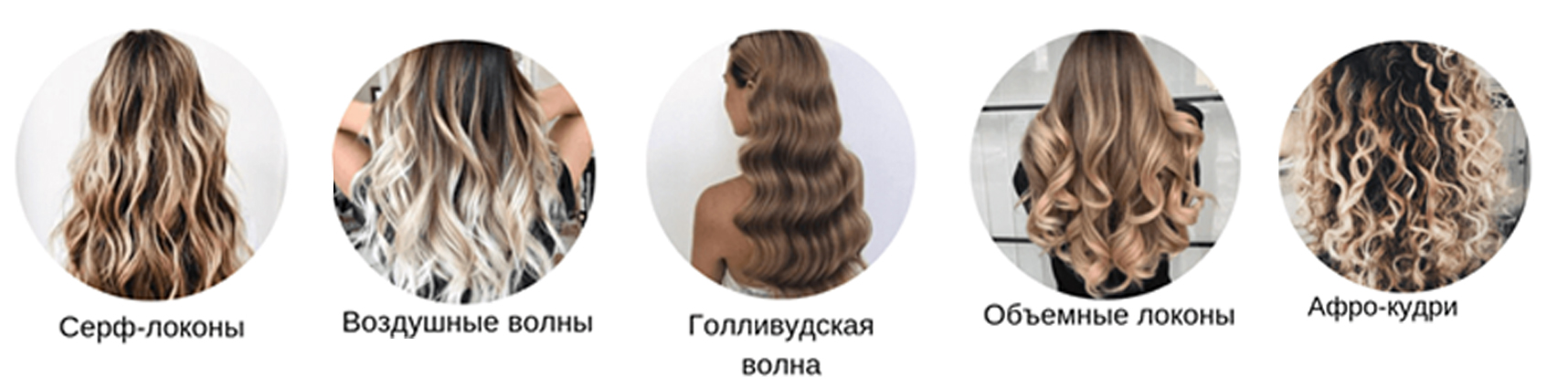 разновидности локонов